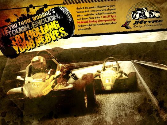 JK Tyre Print Ad -  Racing, 4