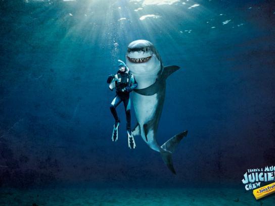 Wrigley's Print Ad -  Shark