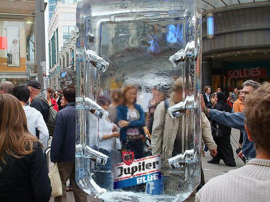 Jupiler Ambient Ad -  Ice