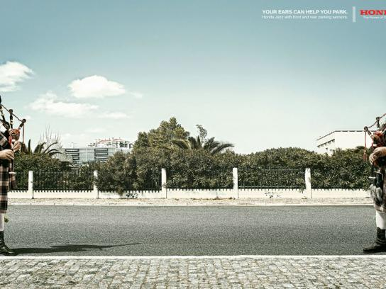 Honda Print Ad -  Bag piper