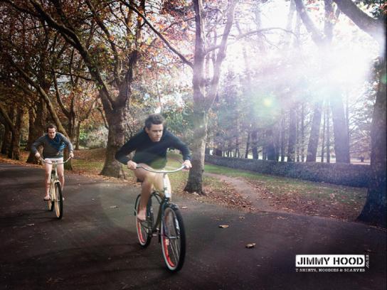 Jimmy Hood Print Ad -  Cyclists