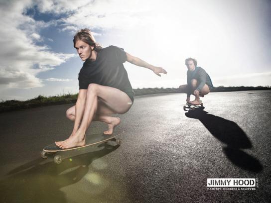 Jimmy Hood Print Ad -  Skateboarders
