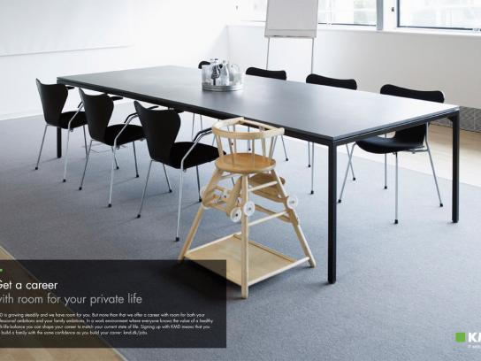 KMD Print Ad -  High chair