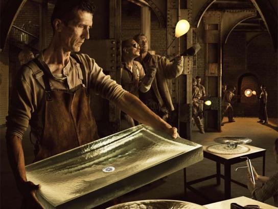 Kohler Print Ad -  Glassblower