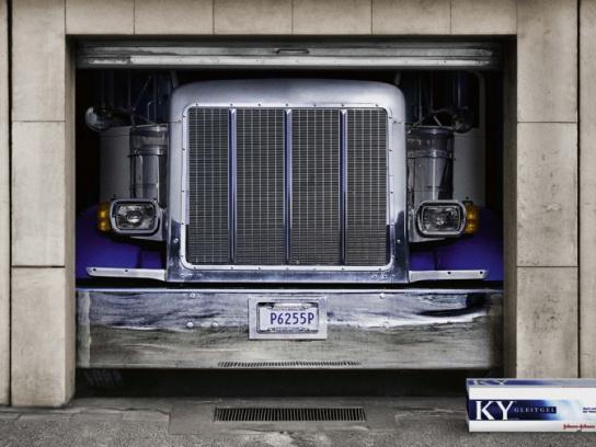 Johnson & Johnson Print Ad -  Truck