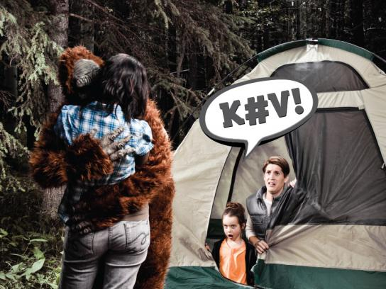 Greenpeace Print Ad -  Dirty Kev, Tent