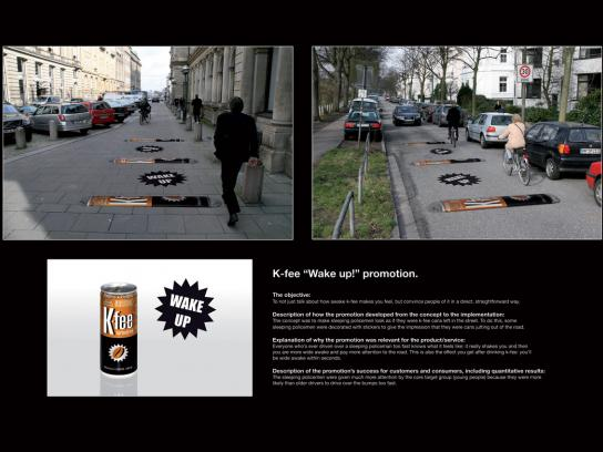 K-fee Ambient Ad -  Speed bumps