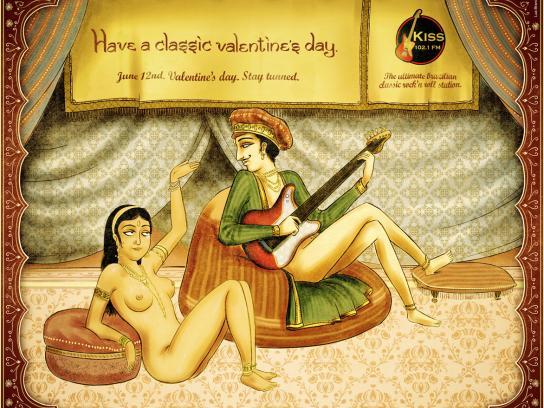 KISS FM Print Ad -  Valentine's Day