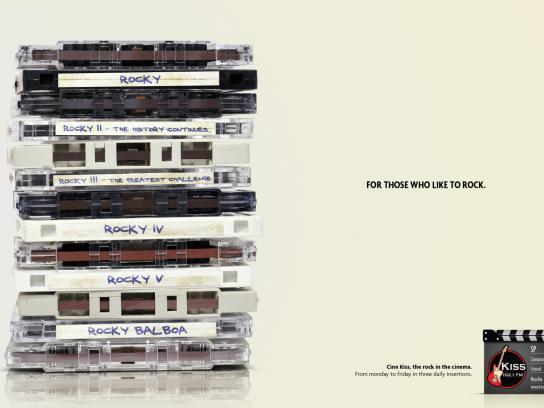 KISS FM Print Ad -  Rocky