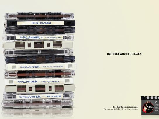 KISS FM Print Ad -  Highlander