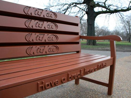 Kit Kat Ambient Ad -  Bench