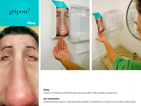 Kleenex Ambient Ad -  Soap dispenser