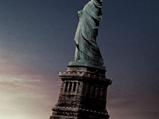 Komatsu Print Ad -  Statue of Liberty