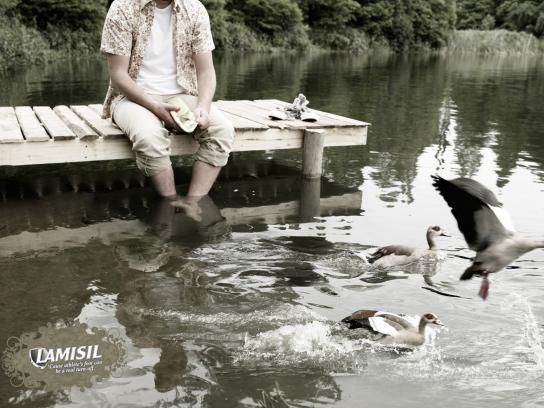 Lamisil Print Ad -  Ducks
