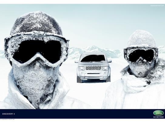 Land Rover Print Ad -  Goggles