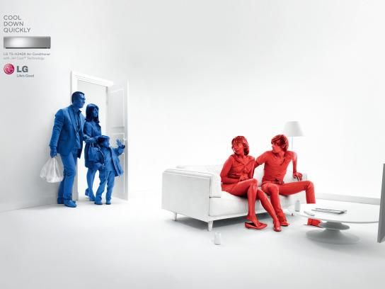 LG Print Ad -  Cool Down Quickly, Teen Couple