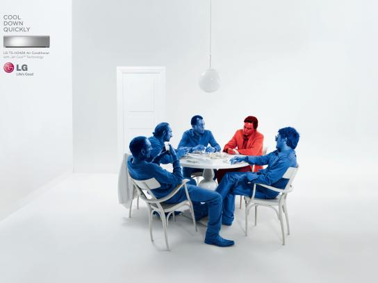 LG Print Ad -  Cool Down Quickly, Poker
