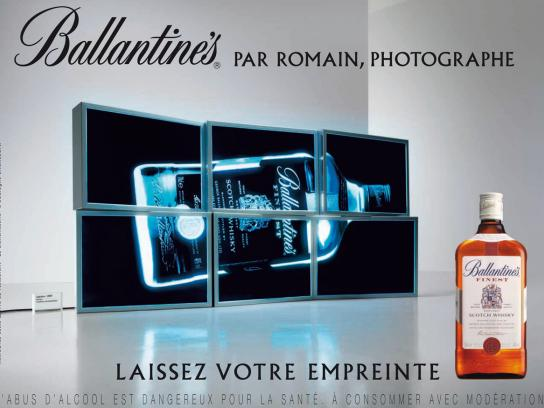 Ballantine's Print Ad -  Lightbox