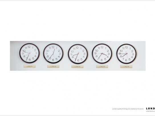 London advertising Print Ad -  Clocks