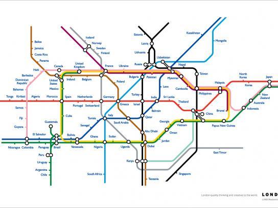 London advertising Print Ad -  Map