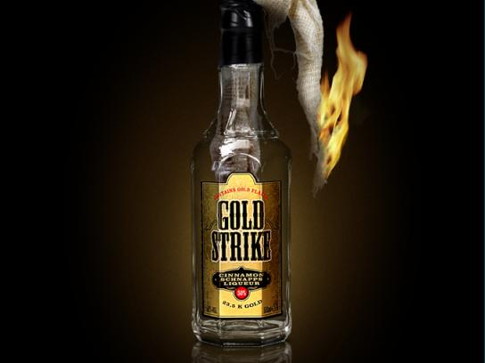 Goldstrike Print Ad -  Don't mess with the legend, Molotov cocktail