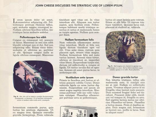 The Office of John Cheese Print Ad -  Lorem Ipsum