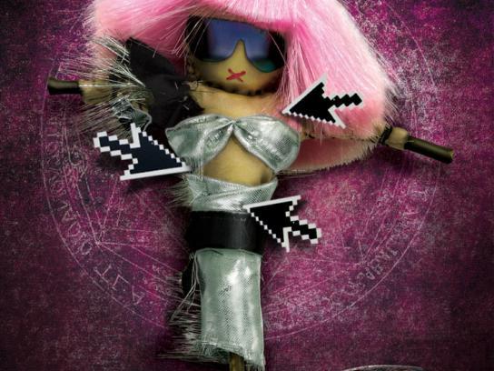Rhythm House Print Ad -  LadyGaga Voodoo
