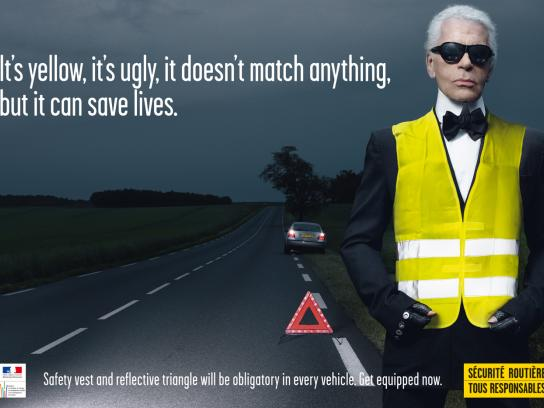 French Road Safety Outdoor Ad -  Lagerfeld