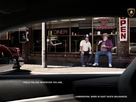 Lamborghini Print Ad -  Feels italian, Fast food