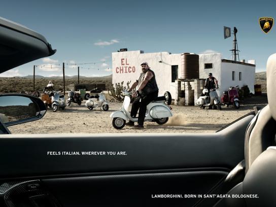 Lamborghini Print Ad -  Feels italian, Motor scooter