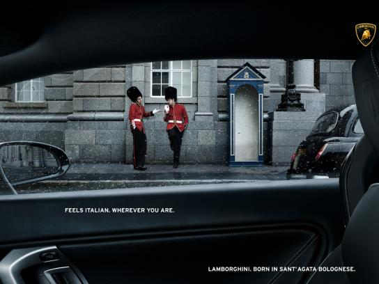 Lamborghini Print Ad -  Feels italian, The guards