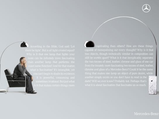 Mercedes Print Ad -  Lamp