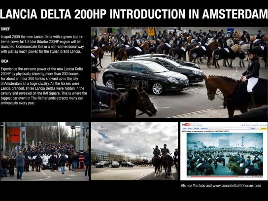Lancia Ambient Ad -  Horses
