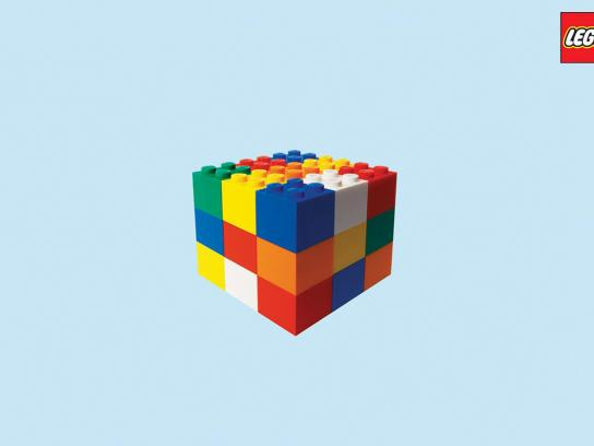 Lego Print Ad -  Rubik's Cube