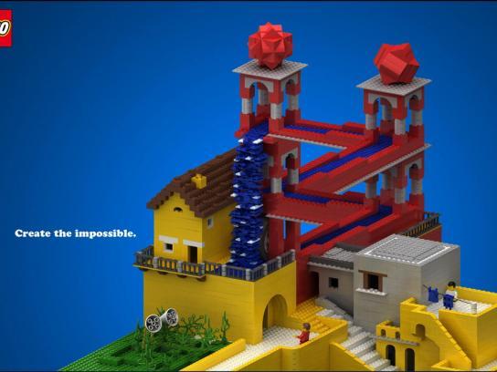 Lego Print Ad -  Waterfall