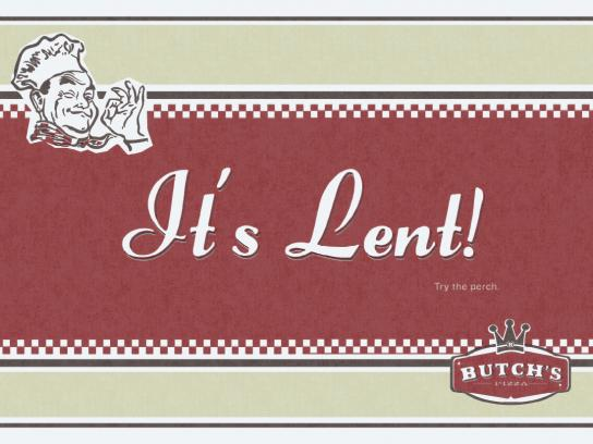 Butch's Pizza Print Ad -  It's Lent!