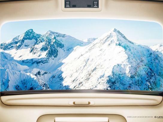 Lexus Print Ad -  Snow