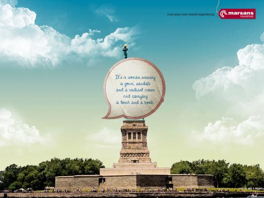 Marsans Viagens Print Ad -  Live your own travel experience, Liberty
