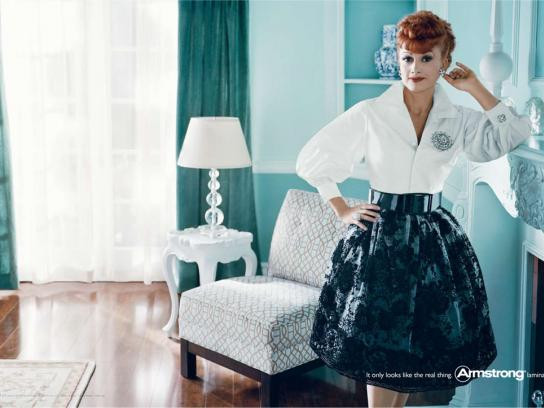 Armstrong Print Ad -  Lucille Ball
