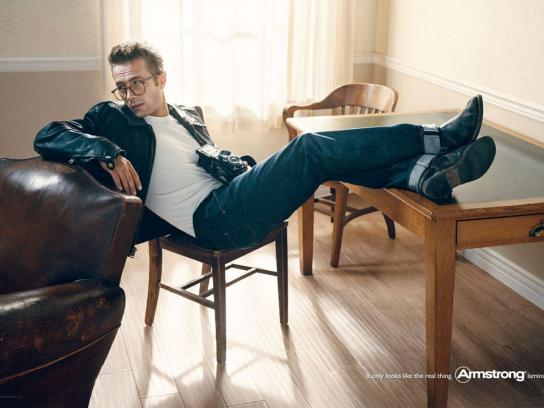 Armstrong Print Ad -  James Dean