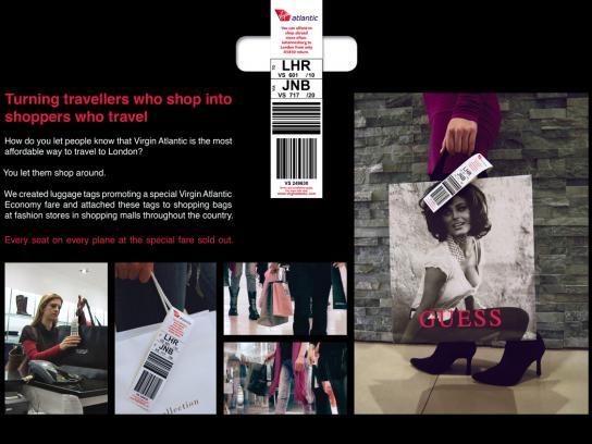 Virgin Print Ad -  Luggage Tags
