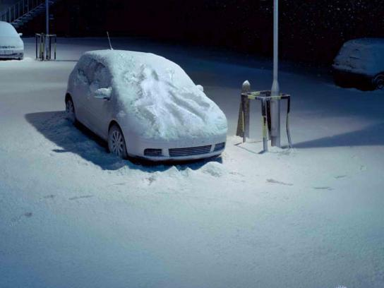 Axe Print Ad -  Snow angel car