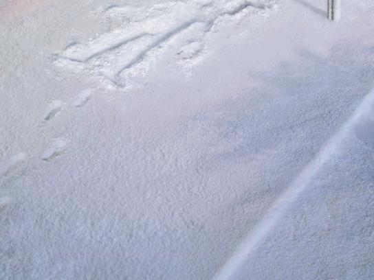 Axe Print Ad -  Snow angle bus-stop