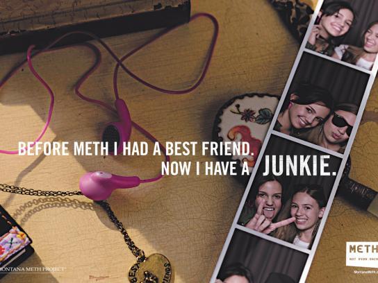 Montana Meth Project Print Ad -  Junkie