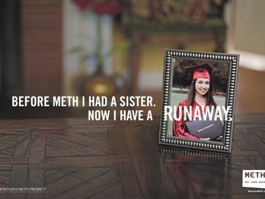 Montana Meth Project Print Ad -  Runaway