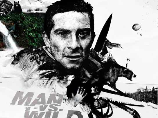 Discovery Channel Print Ad -  Man vs Wild 09