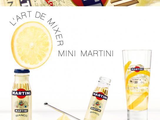 Martini Print Ad -  Bianco