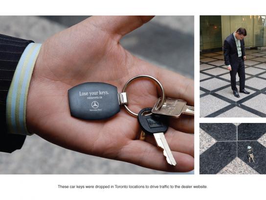 Mercedes Ambient Ad -  Keys