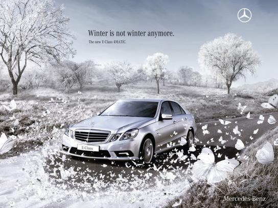 Mercedes Print Ad -  Butterflies