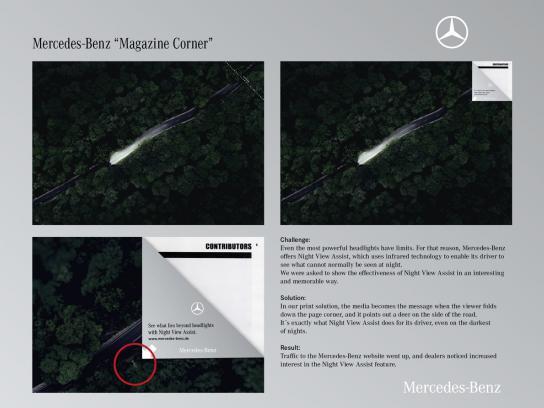 Mercedes Print Ad -  Magazine Corner
